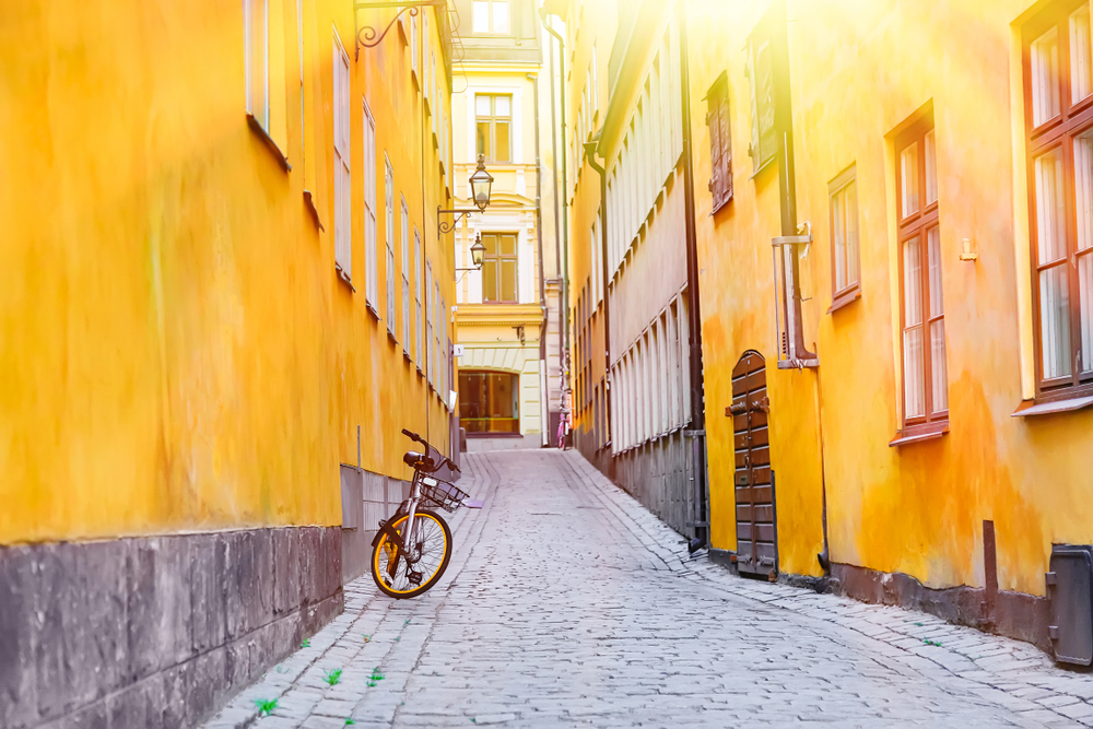 Bicycle on the Stockholm street
