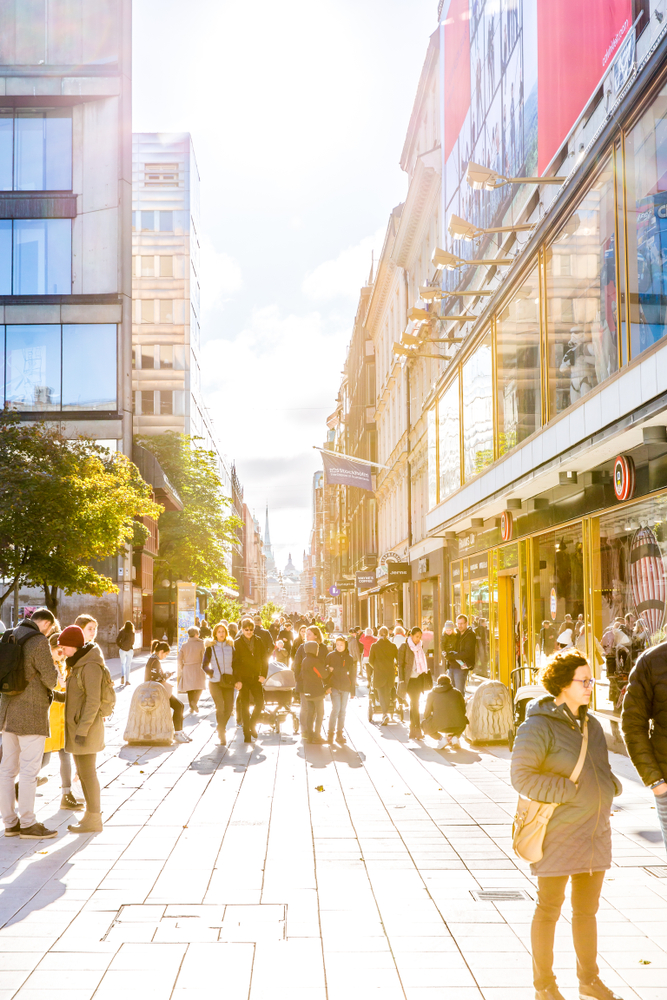 People on a Stockholm street
